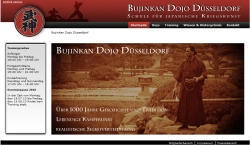 Screenshot Website Bujinkan Dojo Düsseldorf
